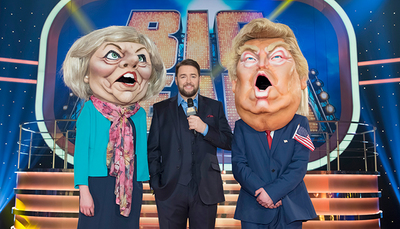 Bigheads, bbc studioworks, donald trump, theresa may
