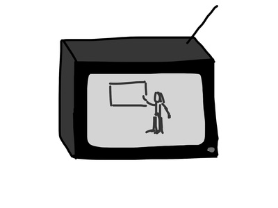 Graphic of a TV