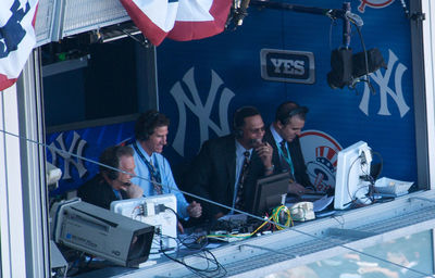 Michael Kay, Paul O'Neill, Ken Singleton, sports commentator, commentator booth, New York Yankees season, Announcers' booths,