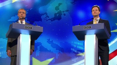 nick clegg, nigel farage, eu, debate