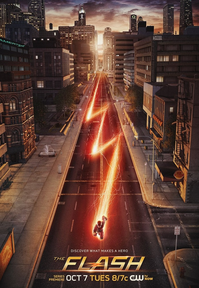 The CW's The Flash Poster  - The CW is after a third superhero show to join Arrow and The Flash, who should it be?