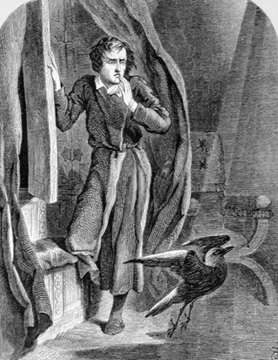 the raven, edgar allan poe, john tenniel, horror