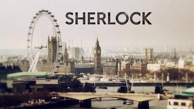 Title card for the BBC series Sherlock